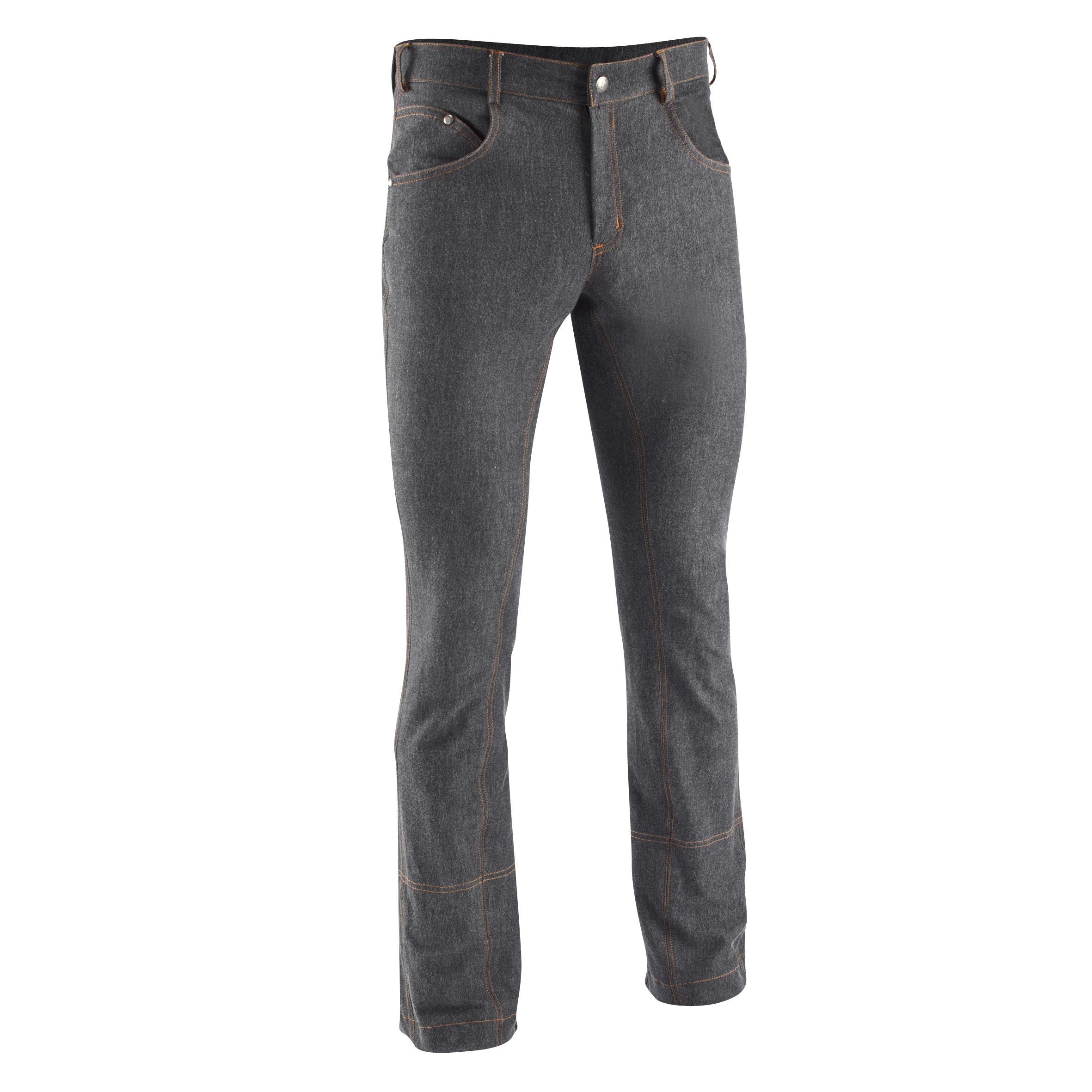 Fouganza Herenrijbroek met rechte pijpen jeans zwart