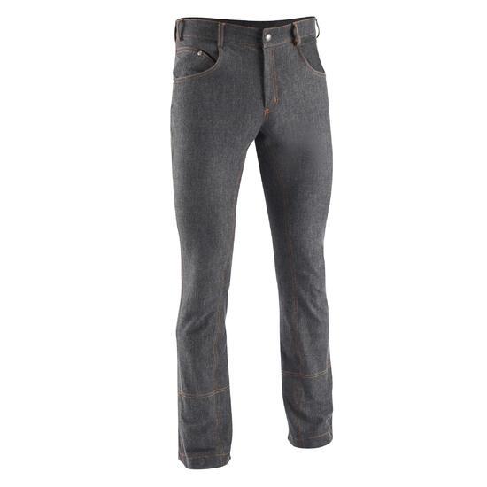 Herenrijbroek met rechte pijpen jeans zwart - 666136