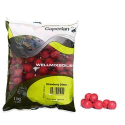 Boilies voor karpervissen Wellmix 24 mm Strawberry 1 kg