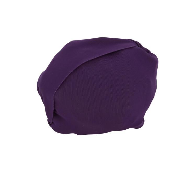 Meisjesbikini met topje zonder sluiting paars