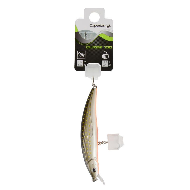 Floating fishing plug bait Quizer 100 Brown