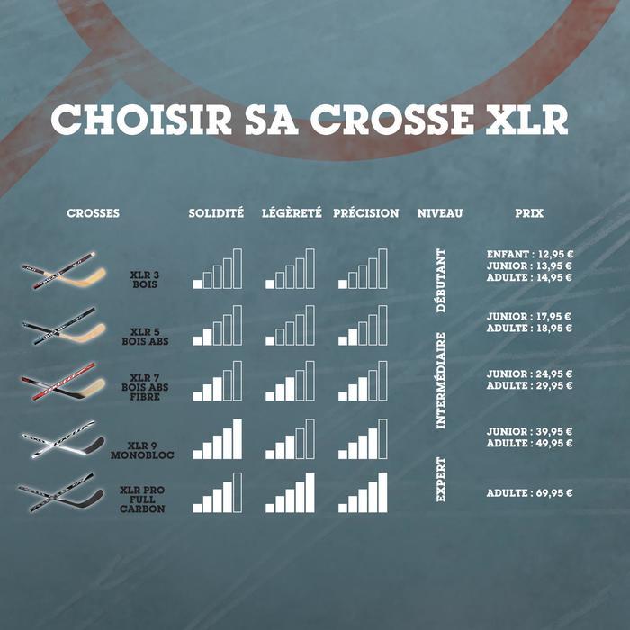 Crosse de hockey adulte  XLR 9 blanche - 668354