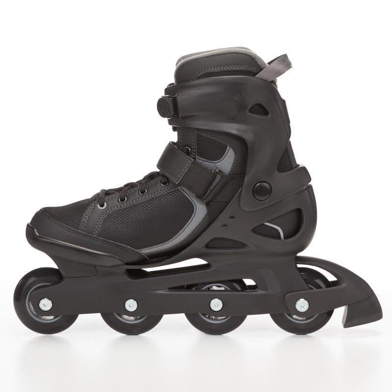 รองเท้าอินไลน์สเก็ตผู้ชายเพื่อการออกกำลังกายรุ่น Fit 3 (สีดำ/เทา)