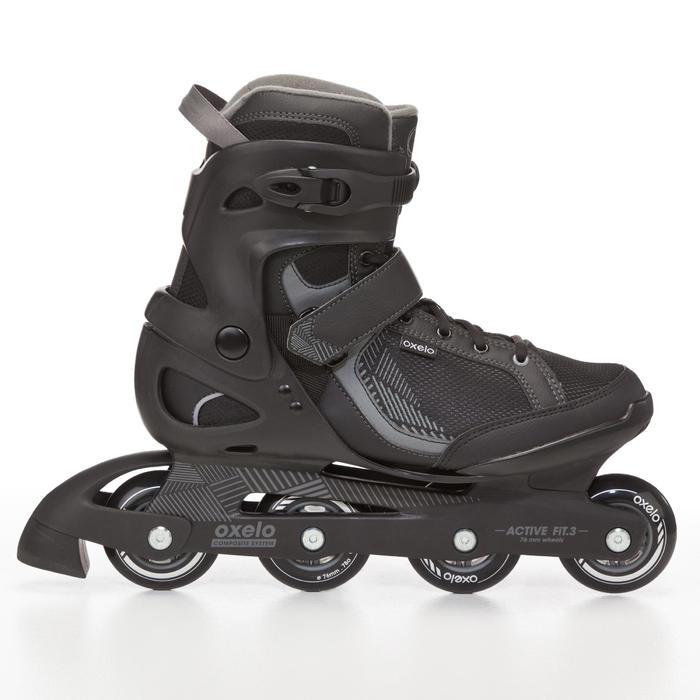 Giày trượt patin 1 hàng Fit 3 cho Nam - Đen/Xám