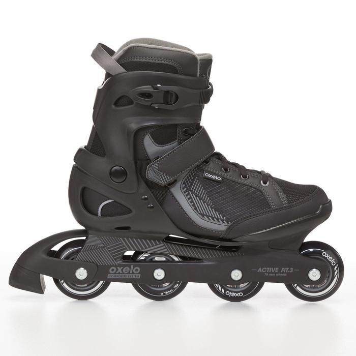 Roller fitness homme FIT 3 noir gris - 669008