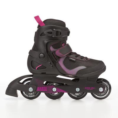 Fit 3 حذاء تزلج للسيدات -أسود/أرجوانى