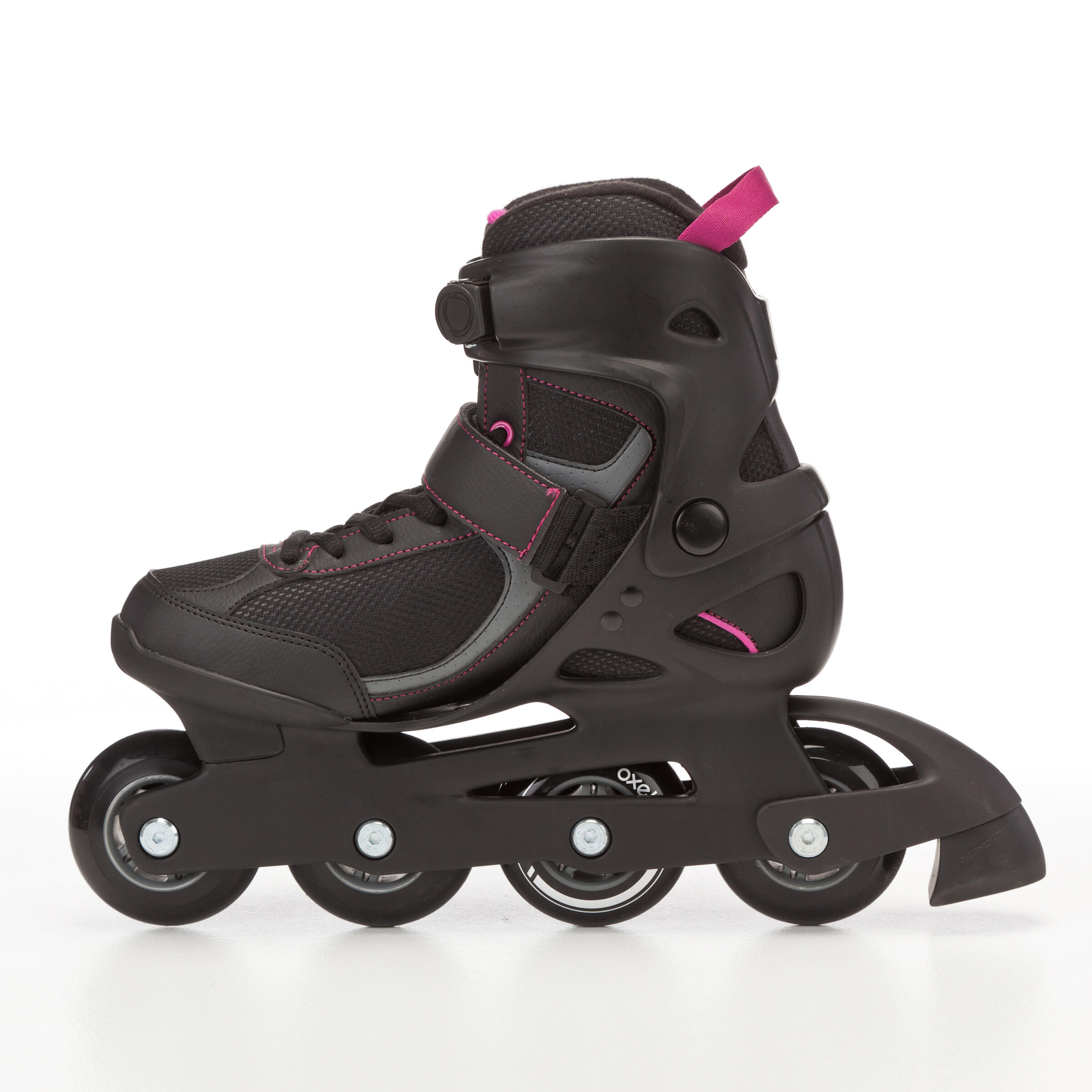 Patins à roues alignées femme FIT 3 noir fuchsia
