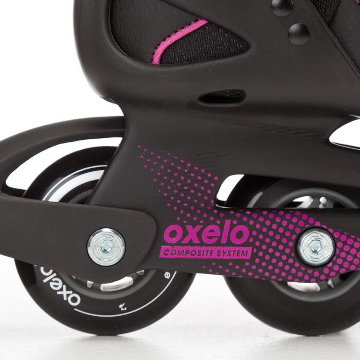 Roller fitness femme FIT 3 noir fuchsia - 669022