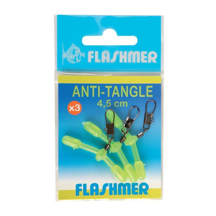 Montage zeelijn anti-tangle fluogeel 4,5 cm