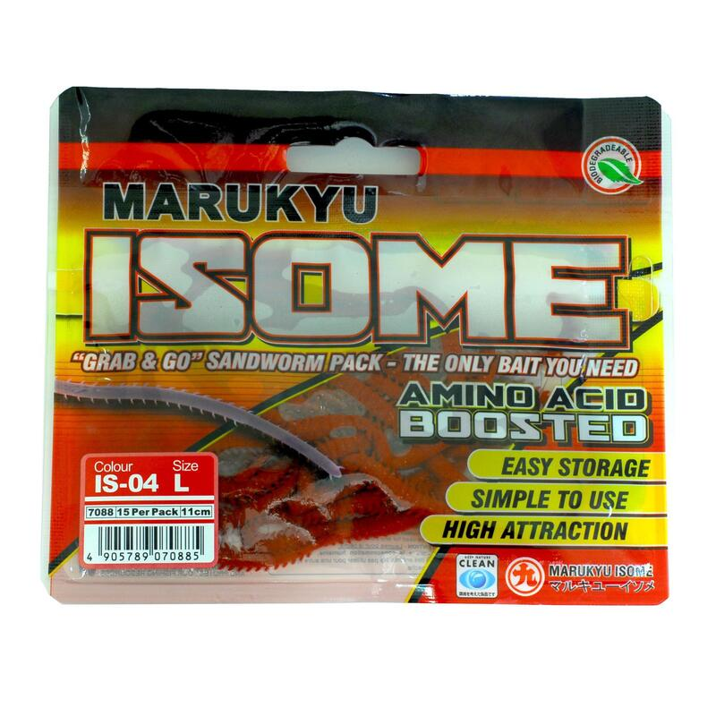 Power Isome Worm L BROWN x15 Sea Fishing