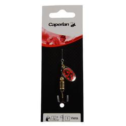 Spinner hengelsport Weta #1 goud/rode stippen - 670024