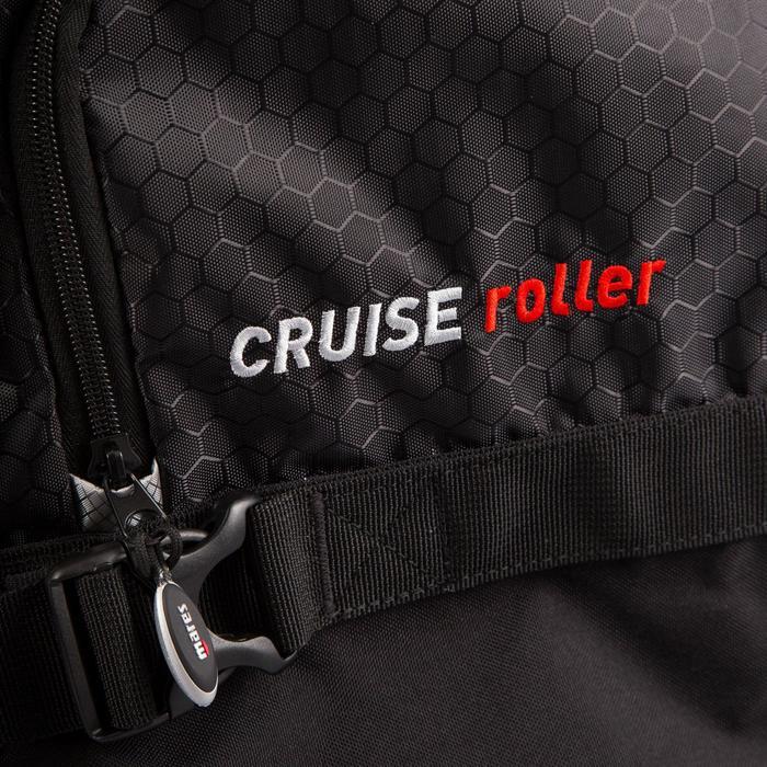 Bolsa de viaje de submarinismo con botella CRUISE ROLLER 128 L negra