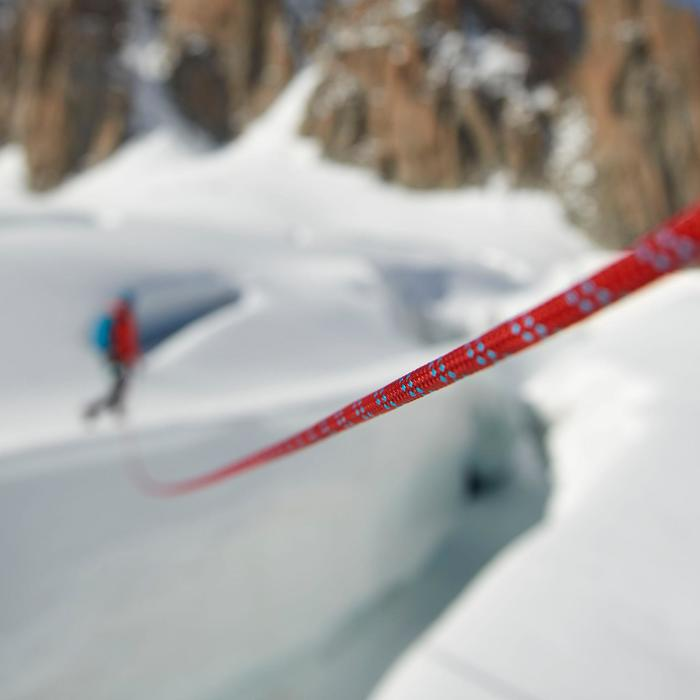 Dubbeltouw dry voor klimmen en alpinisme 7,5 mm x 60 m - Rappel 7.5 rood