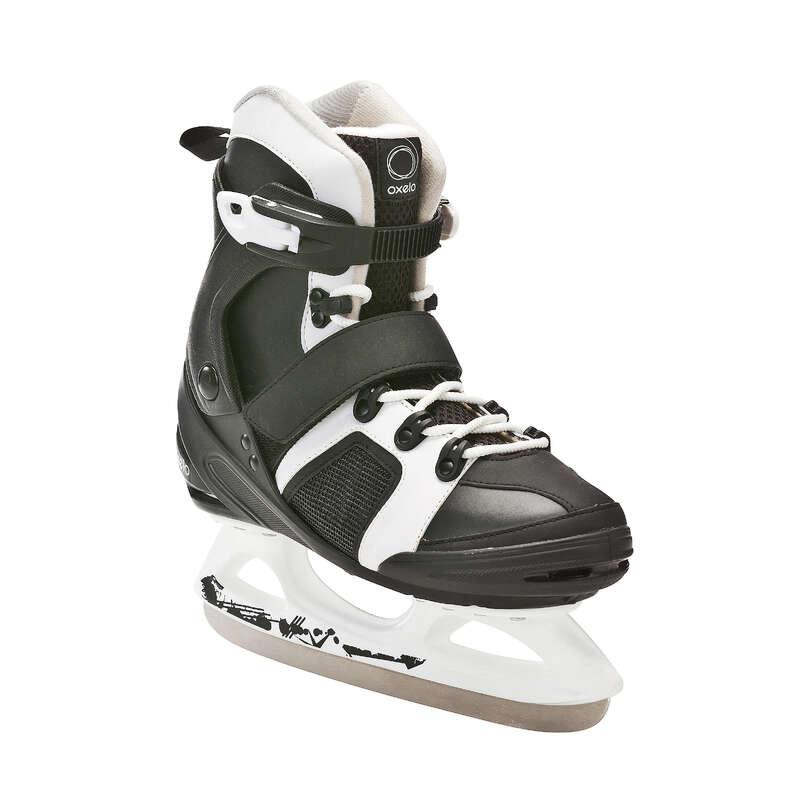 ADULT FITNESS ICE SKATES Ice Skating - FIT 3 Ice Skates - Black/White OXELO - Ice Skating