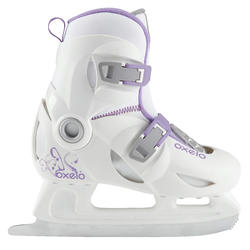 Patins à glace enfant fille PLAY 3 BLANC