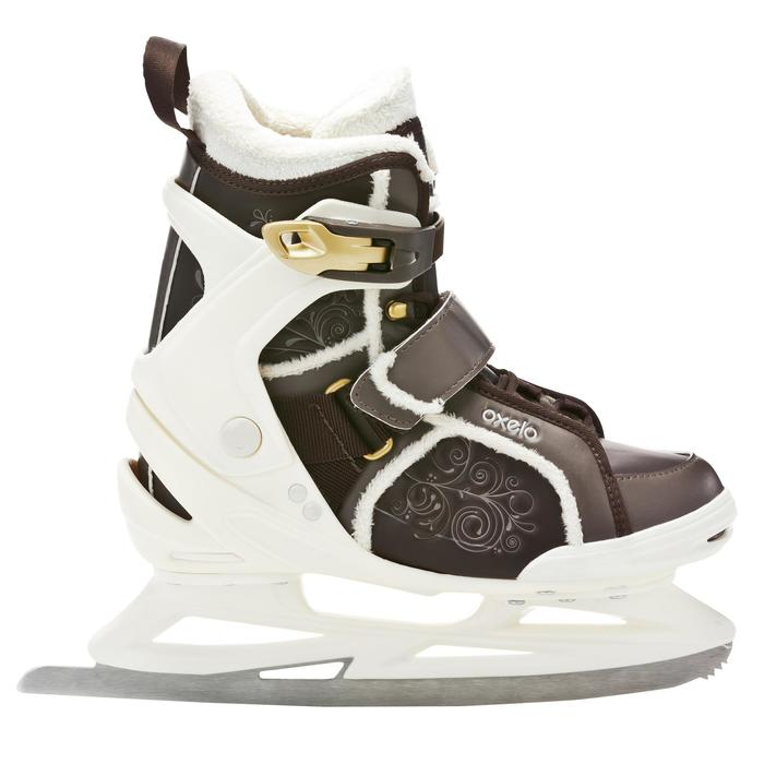 Patines sobre hielo mujer FIT5 SPIRALE marrón
