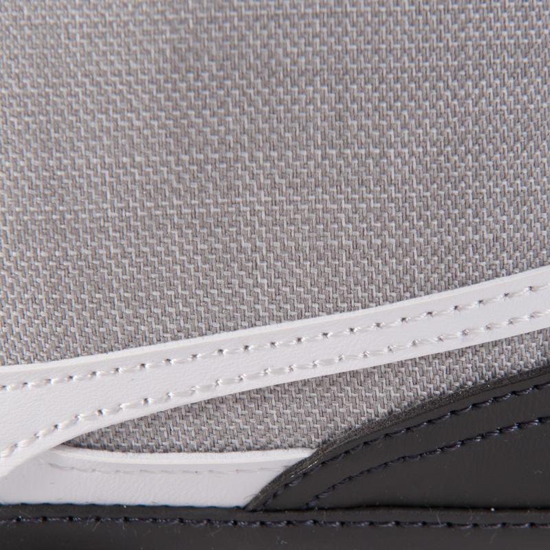 Fine pochette à bandoulière gris chiné