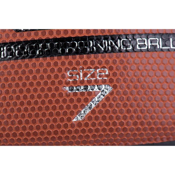 Ballon de basket homme B500 taille 7 marron. Cuir synthétique. - 675521