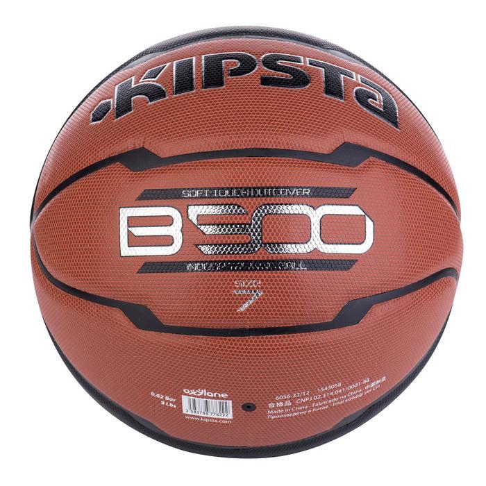 Ballon de basket homme B500 taille 7 marron. Cuir synthétique. - 675522