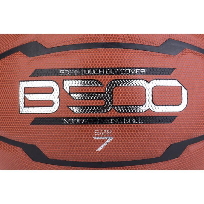 Ballon de basket homme B500 taille 7 marron. Cuir synthétique. - 675523