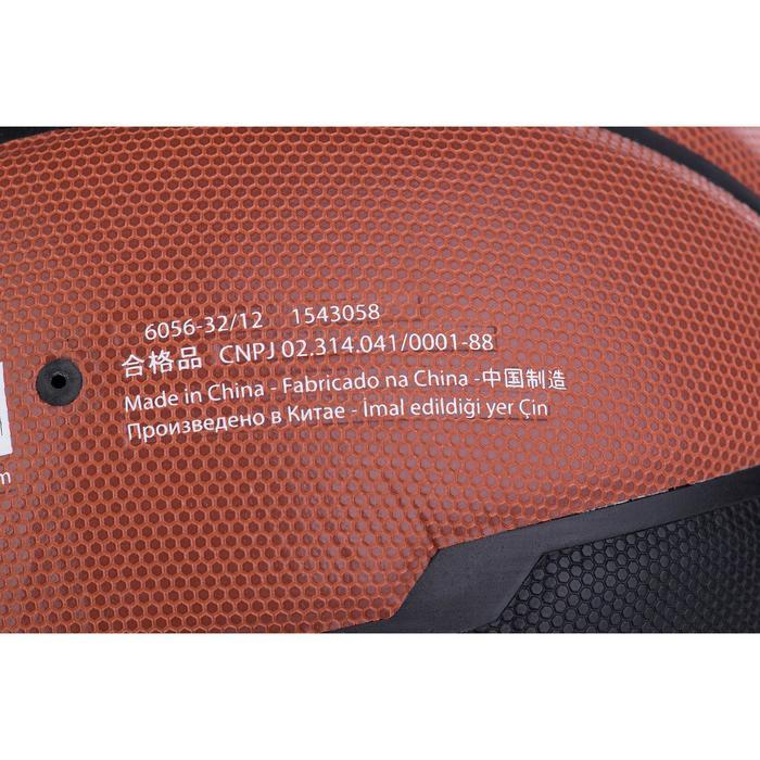 Ballon de basket homme B500 taille 7 marron. Cuir synthétique. - 676785