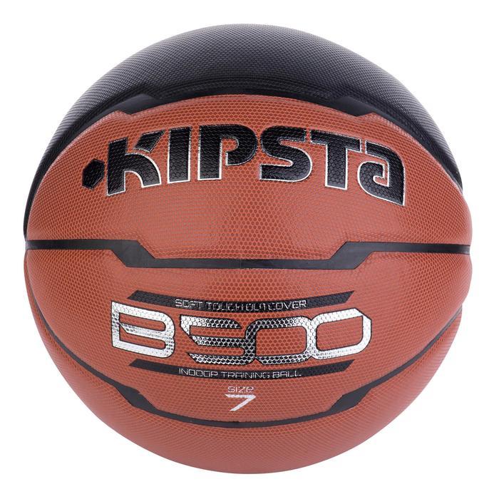Ballon de basket homme B500 taille 7 marron. Cuir synthétique. - 676786
