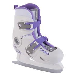 Play 3 兒童冰刀鞋 - 白色。