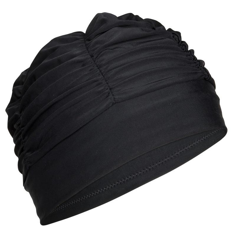 Bonnet de bain natation maille volume noir