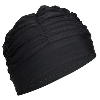 Шапочка для плавання, текстильна - Чорна