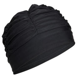Badekappe Stoff Volumen Brushing schwarz