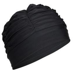 VOLUME FABRIC SWIM CAP - BLACK