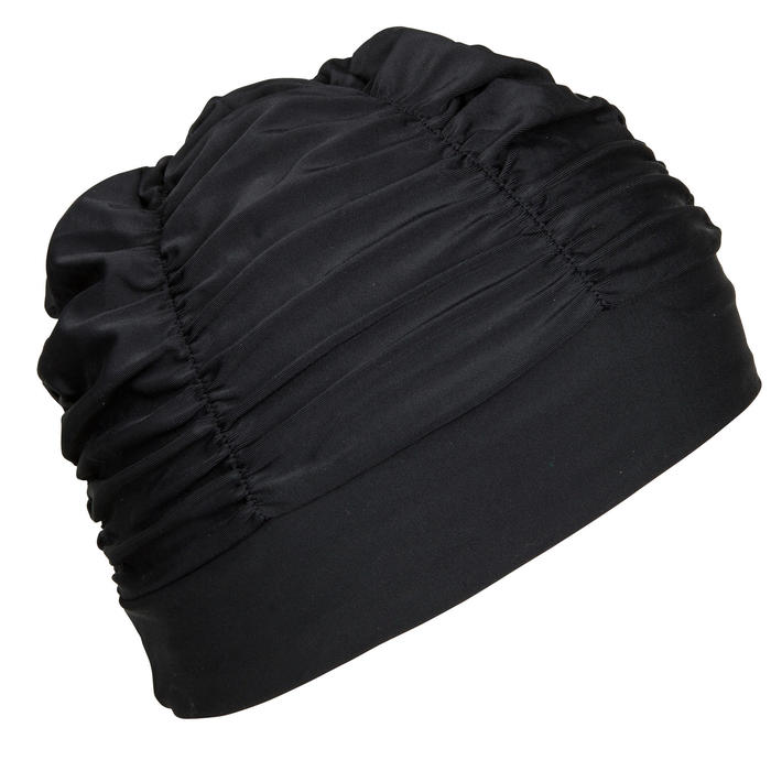Stoff-Badekappe schwarz