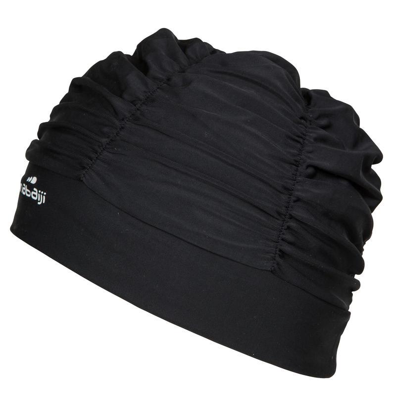 Swim Cap with Volume- Black