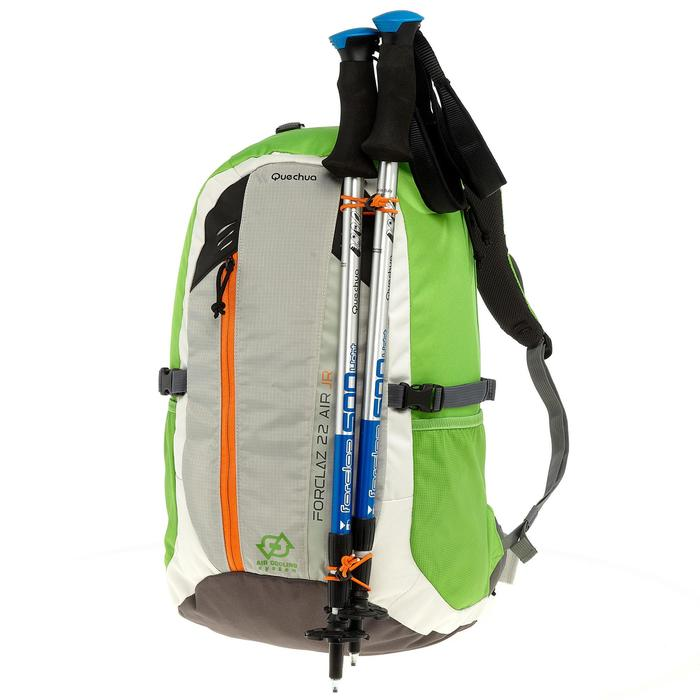 Rugzak F22 Air voor kinderen groen/grijs: geventileerde rug voor veel comfort