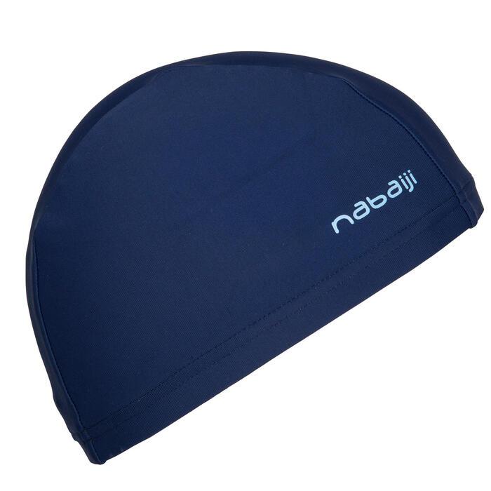 Stoffen badmuts marineblauw