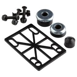 Skateboarding truck assembly fastenings kit - black