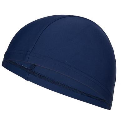 Mesh Fabric Swim Cap - Navy Blue