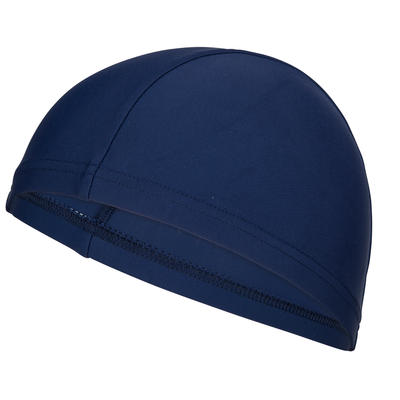 Mesh Fabric Swim Cap - Navy Blue