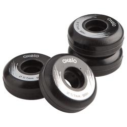 4 roues roller Street 57 mm 88A noires