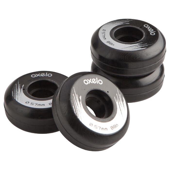 Rollen Inline Skates Street 57mm/88A 4er-Pack schwarz