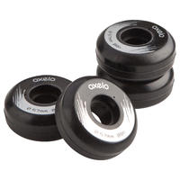 Street 57mm 88A Inline Skate Wheels 4-Pack - Black