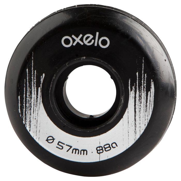 4 roues roller Street 57 mm 88A noir - 690808