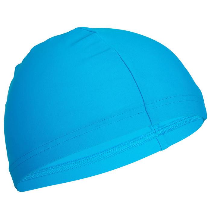 Gorro de natación de tejido de punto azul tallas S y L