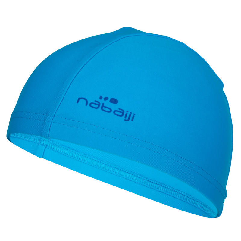 Mesh Fabric Swim Cap, Sizes S and L - Blue