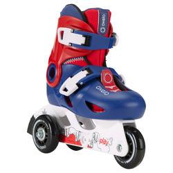 PLAY 3 inline skate anak-anak - biru merah