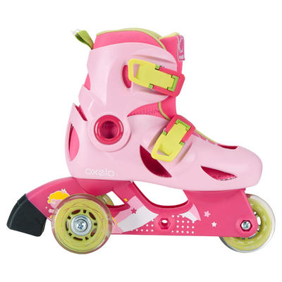 roller enfant PLAY 3 rose