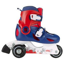 PLAY 3 children's inline skates - blue red