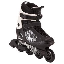 Inline-Skates Freeride 3 Softboot Erwachsene schwarz/weiß