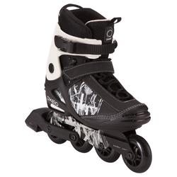 Patines Patinaje Freeride Skate Oxelo FREERIDE 3 SOFTBOOT NEGRO BLANCO