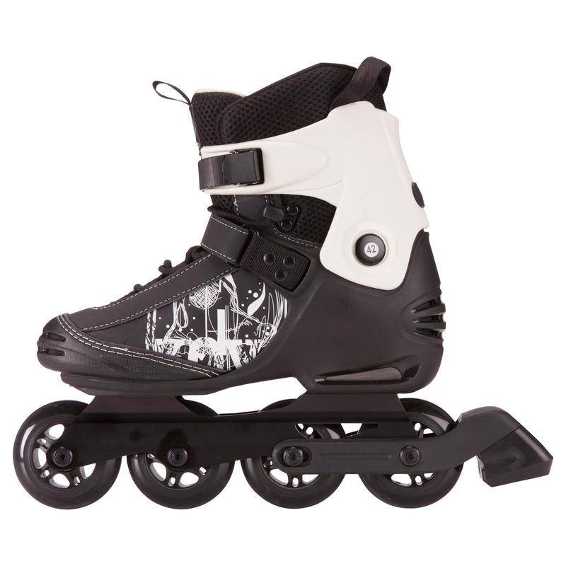 รองเท้าอินไลน์สเก็ตสำหรับผู้ใหญ่รุ่น Freeride 3 Softboot (สีดำ/ขาว)